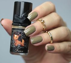 """FAISA"" the Pony from LOVES ANIMALS 2"" by Esmaltes da Kelly: light brown (greenish tint)"