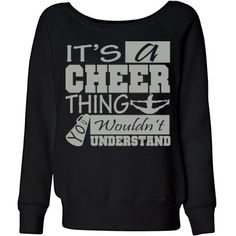 It's A Cheer Thing | Also available in different colors!  Cheerleader character on the back!