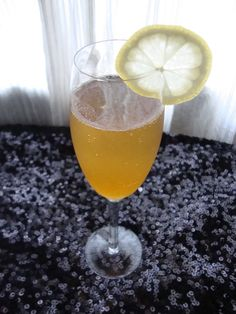 New Year's Persimmon-Champagne Cocktail | The Cozy Herbivore