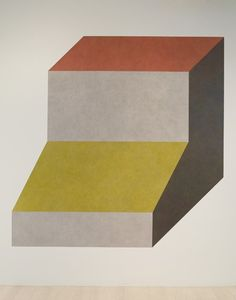 Sol-LeWitt-Wall-Drawing-420H-Isometric-figure-with-gray-yellow-red-and-blue-superimposed-progressively