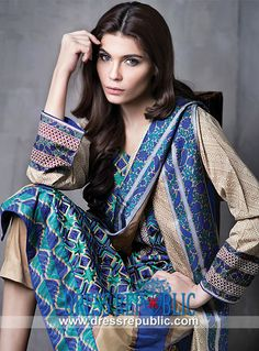 Sana Safinaz Summer Spring Embroidered Lawn 2014  Shop Online Pakistani Lawn Suits Collection for Spring/Summer 2014: Mahnoush Summer Spring Embroidered Lawn 2014 at Cheap Prices. by www.dressrepublic.com