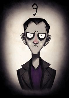 Tim Burton-Inspired 'Doctor Who' Illustrations, Now Available As GIFs