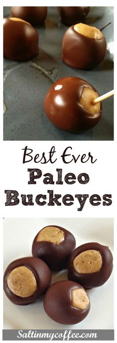 Perfectly decadent paleo buckeyes. So easy to make, and ever bit as wonderful as the ones we grew up with. A classic Christmas cookie favorite!