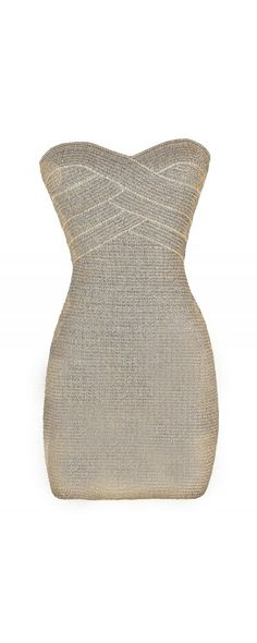 Chainmail Sweetheart Strapless Bodycon Dress ba34ec0d7ca9