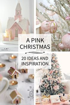 I've been dreaming of a Pink Christmas! 20+ inspiring Pink Christmas images and sources, for your viewing and dreaming pleasure.