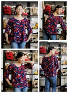 Patron gratuit : une blouse simple à manches raglan