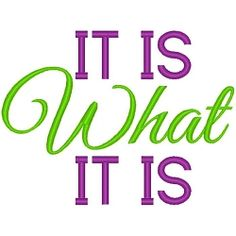 What It Is - 3 Sizes! | Words and Phrases | Machine Embroidery Designs | SWAKembroidery.com Band to Bow