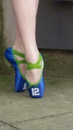 .seahawks ballet slippers