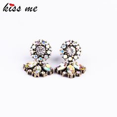 KISS ME Fashion Jewelry KISS ME Women exquisite all-match vintage small stud earring Factory Wholesale
