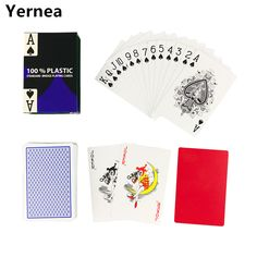 Hot new 1 Sets/Lot 2 Color for Red and Blue Baccarat Texas Hold'em PVC Waterproof plastic playing poker cards 58*88mm Yernea #Affiliate
