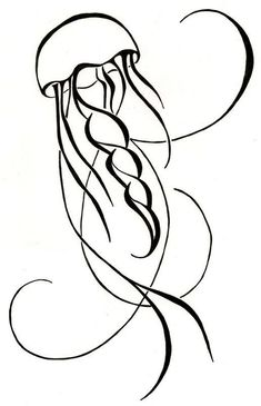 simple sketch jellyfish - Google Search