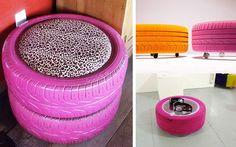Ideas DIY para decorar con neumáticosDecofilia.com