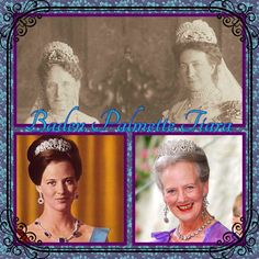 15th April and today's tiara is the Baden Palmette Tiara, now owned by Queen Margrethe of Denmark. The beautiful heart shaped tiara has had a bit of traveling to do to end up in Denmark. It originally belonged to Louise of Baden. Her daughter Victoria would become Queen of Sweden. She inherited the tiara but was not photographed wearing it. Nor was the next owner, her granddaughter, Ingrid, who brought the tiara with her to Denmark. Queen Margrethe has worn the tiara many times.