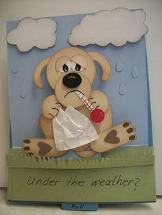 Get Well Dog Punch Art - bjl