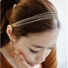 Fashion Gold Metal Hairpin_Hairpin_Jewellery_Cheap Clothes,Cheap Shoes Online,Wholesale Shoes,Clothing On lovelywholesale.com - LovelyWholesale.com