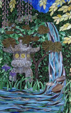 My Dream Goes Wandering    stained glass mosaic by  Barb Keith