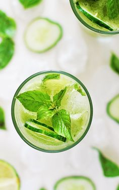 Cucumber-lime daiquiri with basil agave syrup.