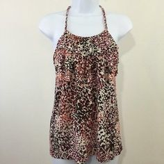 NWT Banana Republic braided halter top Ruffles on the top. Adorable with a cardigan or alone! Dress it up or dress it down  NEW WITH TAGS Banana Republic Tops