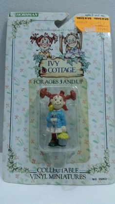 Ivy Cottage Collectable Vinyl Miniatures Ruby Buttons New 1990