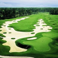 More sand than a beach! Remember to hit the fairway #golf