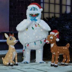 1000 images about holiday decor rudolph on pinterest for Abominable snowman outdoor decoration