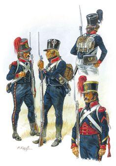 Cacciatori e fucilieri della fanteria leggera