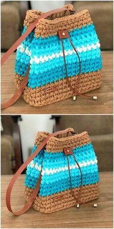 60 New And Stylish Designs Of Crochet Free Patterns - Diy Rustics Crochet Case, Free Crochet Bag, Knit Crochet, Crochet Edging Patterns, Crochet Stitches, Knitting Patterns, Crochet Handbags, Crochet Purses, Crochet Waffle Stitch
