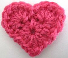 Petit #coeur en #crochet avec #tuto