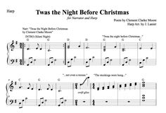 $3.00 Twas the Night Before Christmas for Narrator and Harp