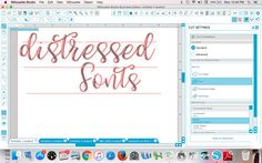 Cutting distressed and vintage fonts with Silhouette CAMEO