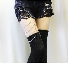 DISHY DREAM Black over the knee Thigh High  stockings | gothic wedding |rocker | punk |hipster | boho | steampunk
