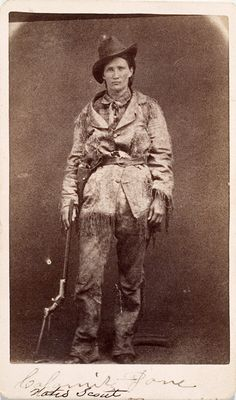 Photograph of Calamity Jane,with imprint of Locke and Peterson ...