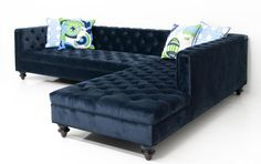 Hollywood Sectional in Navy Velvet from Room Service