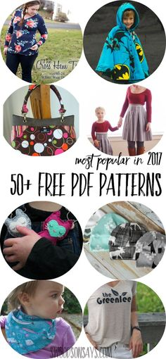 So many great free pdf patterns in this list - what a great list of sewing patterns! #sewing #pdfpattern #freesewingpattern #sewing #pdfpattern #freesewingpattern