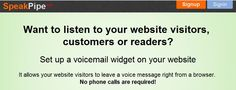#SpeakPipe:  Incorporar la posibilidad de que dejen mensajes de voz en tu Blog o en tu Web con este Widget