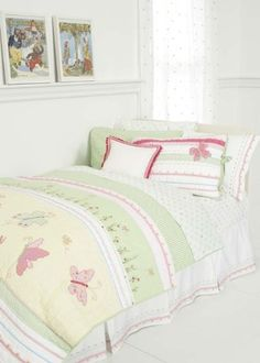 pastel pink u0026 green bedding for girls twin size 2pc quilt set kids bedspread tara girls room pinterest green bedding bedspread and twins