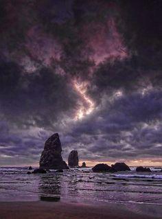 Cannon Beach, Dark Clouds Sunset, Oregon Coast | Flickr - Photo Sharing!