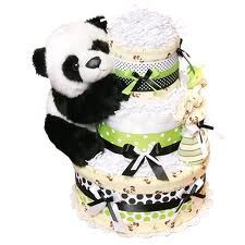 Cute Panda baby shower blanket/onesie... Cake