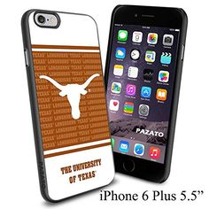 """NCAA W THE UNIVERSITY OF TEXAS , Cool iPhone 6 Plus (6+ , 5.5"""") Smartphone Case Cover Collector iphone TPU Rubber Case Black Phoneaholic http://www.amazon.com/dp/B00VVOQCCO/ref=cm_sw_r_pi_dp_-6Envb16KQ7Q0"""
