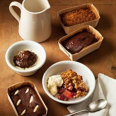 Made by hand in our own patisserie, our new range of hot desserts are perfect for two to share on a cosy night in. Choose from comforting crumble, oozing chocolate fondant and indulgent sticky toffee pudding - all with lashings of our thick, creamy custard, of course.