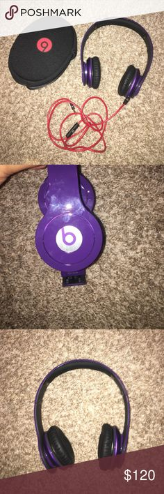 BRAND NEW Beats By Dre Purple NWOT BRAND NEW beats!!! Hate to see these go but i've never gotten around to using them. Super cute, deep purple!! I probably have the box somewhere in my house if that's needed.. Prices super negotiable !! cheaper on 🅿️🅿️ beats by dre Other