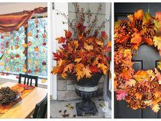 Nejkrásnější podzimní výzdoba z opadaného listí, která nestojí téměř nic: Domácnosti dodá úžasnou podzimní atmosféru! Halloween, Garden Projects, Wreaths, Fall, Outdoor Decor, Home Decor, Autumn, Decoration Home, Door Wreaths