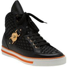 Versace woven high top sneaker.  HOT!