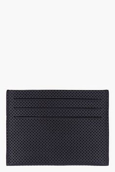 GIVENCHY Black Perforated Leather Cardholder