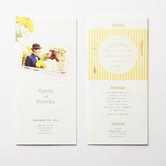 席次表 Natural -yellow- LOUNGE WEDDINGの席次表