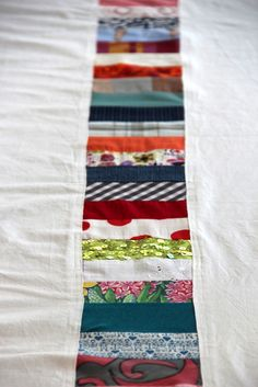 Table cloth made of fabric scraps