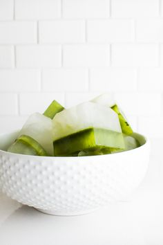 Matcha Coconut Water Ice Cubes