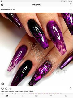 Today let's see what the smoke nail designs look like. As you can see, smork nails are beautiful and attractive. Look at our collection of 28 smoke nail art de Sexy Nails, Dope Nails, Fancy Nails, Gorgeous Nails, Fabulous Nails, Pretty Nails, Blue Nail, Purple Nails, Purple Nail Designs