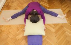 107 best restorative  sequences images  restorative yoga