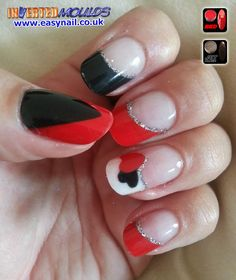 Red and Black Queen of Hearts Inverted Moulds by Linzi from Linzi's Nails   IM Nail Training www.easynail.co.uk